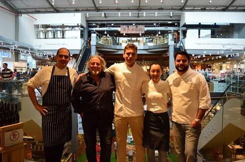Chefs José Barattino- Roberto Ravioli-Giampiero Giuliani-Ligia Karazawa- Rodolfo de Santis-crédito divulgação: Gustavo