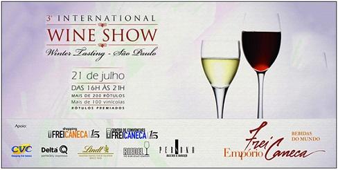 3ª edição da International Wine Show no Centro de Convenções Frei Caneca