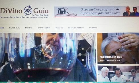 Nova aparência do site www.divinoguia.com.br