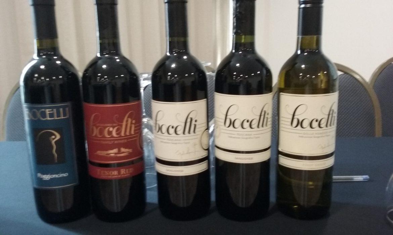 Linha de vinhos Bocelli degustados