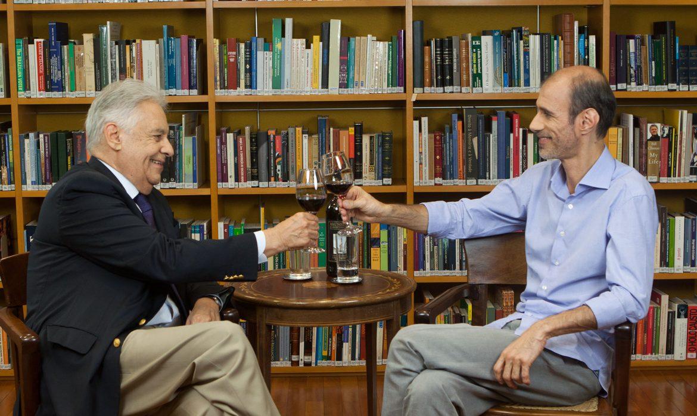 Uma taça de vinho com Beato e FHC-divulgação