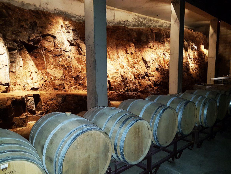 Sala de barricas subsolo de pedras