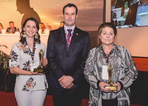 Andréia Debon, Edegar Scortegagna e Maria Regina Flores-Foto Jeferson Soldi